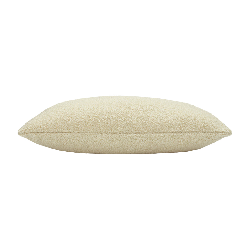Malham Shearling-Feel Fleece Oblong Cushion in Ivory