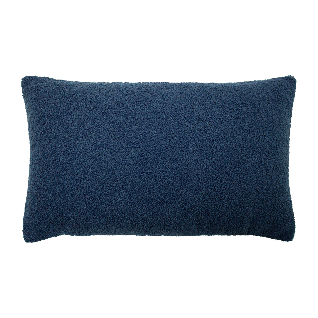 Malham Shearling-Feel Fleece oblong Cushion in Royal