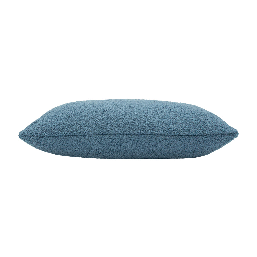 Malham Shearling-Feel Fleece Oblong Cushion in Wedgewood