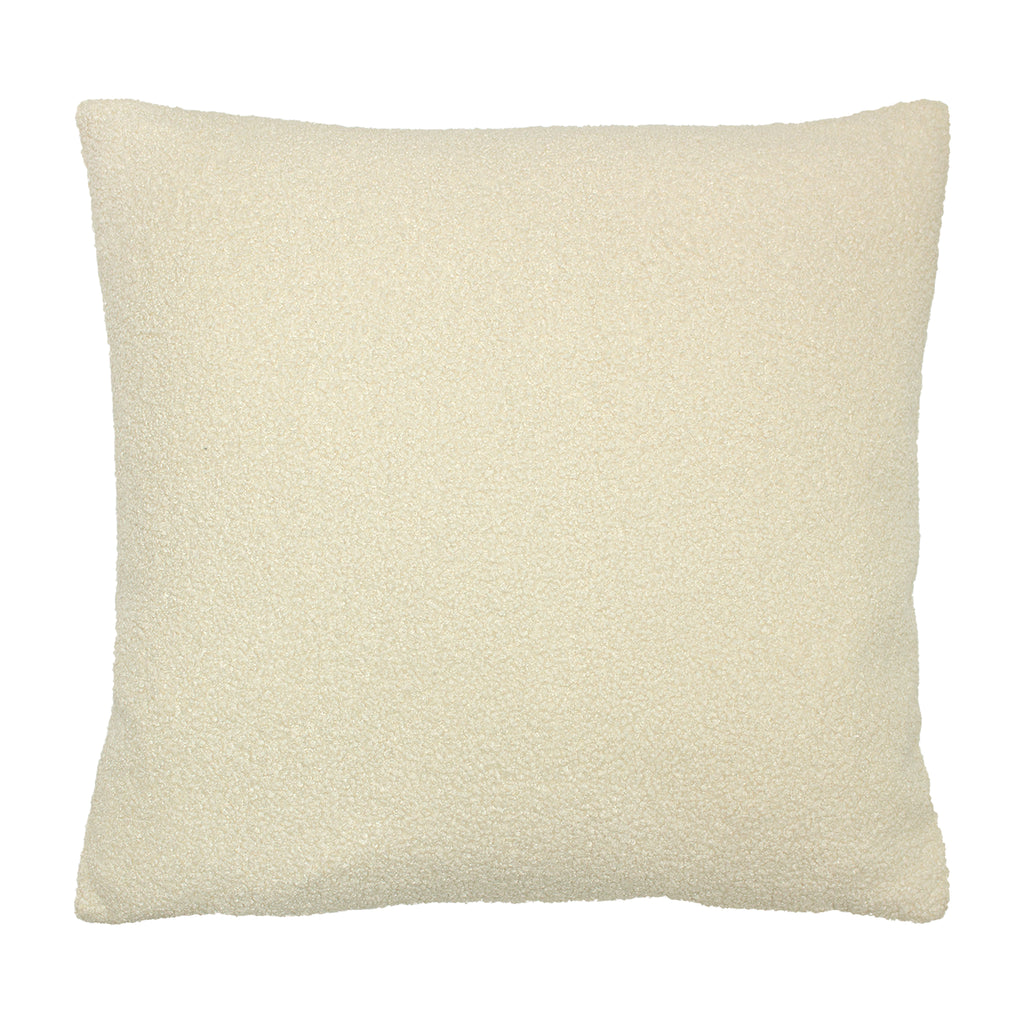 Malham Shearling-Feel Fleece Cushion in Ivory