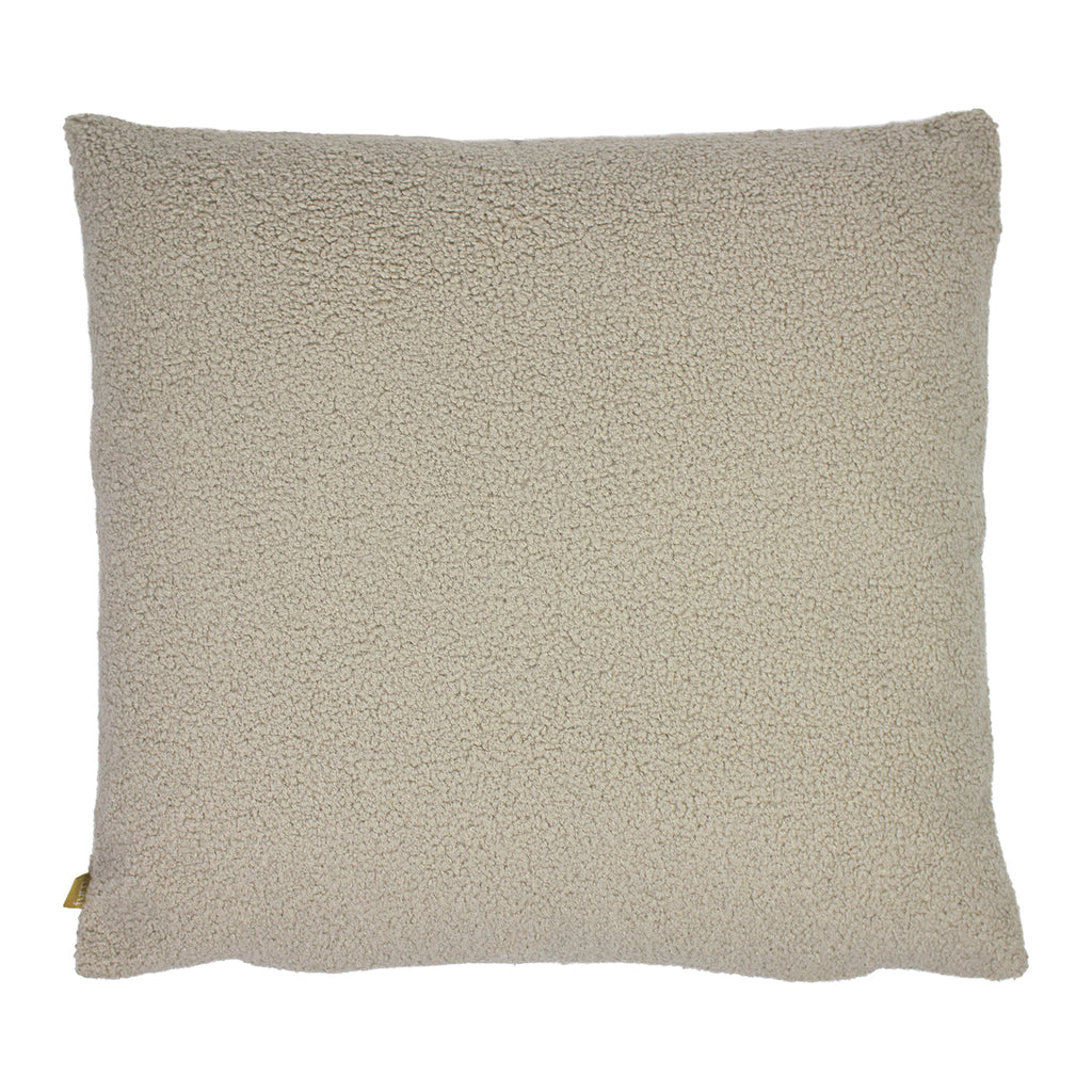 Malham Shearling-Feel Fleece Cushion in Latte