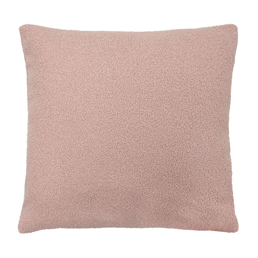 Malham Shearling-Feel Fleece Cushion in Powder