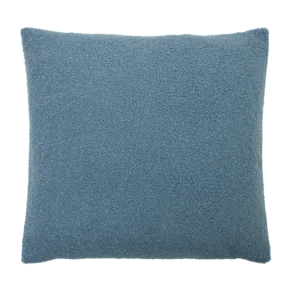 Malham Shearling-Feel Fleece Cushion in Wedgewood