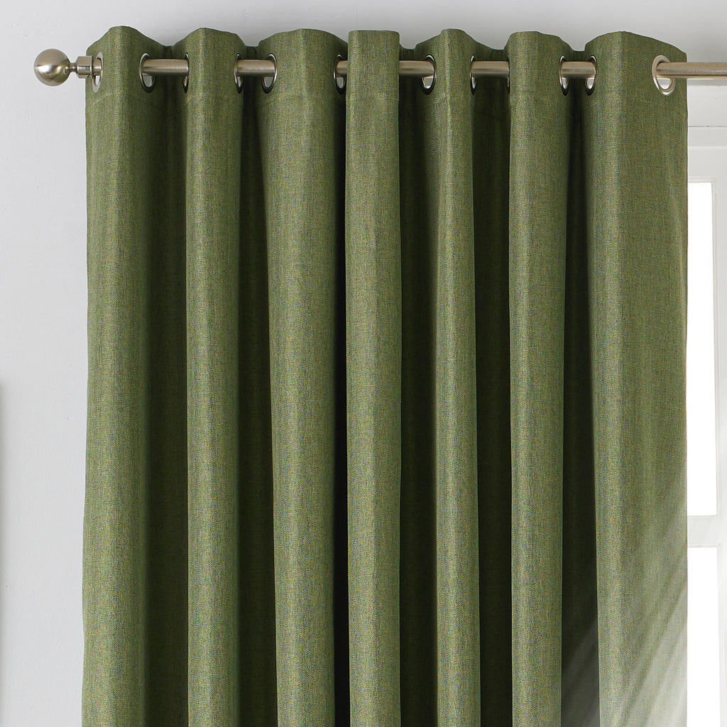 Moon Eyelet Blackout Curtains in Khaki