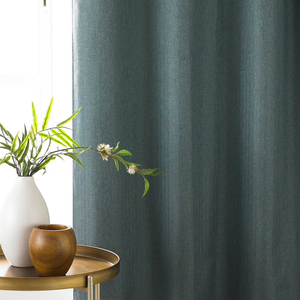 Moon Eyelet Blackout Curtains in Mineral