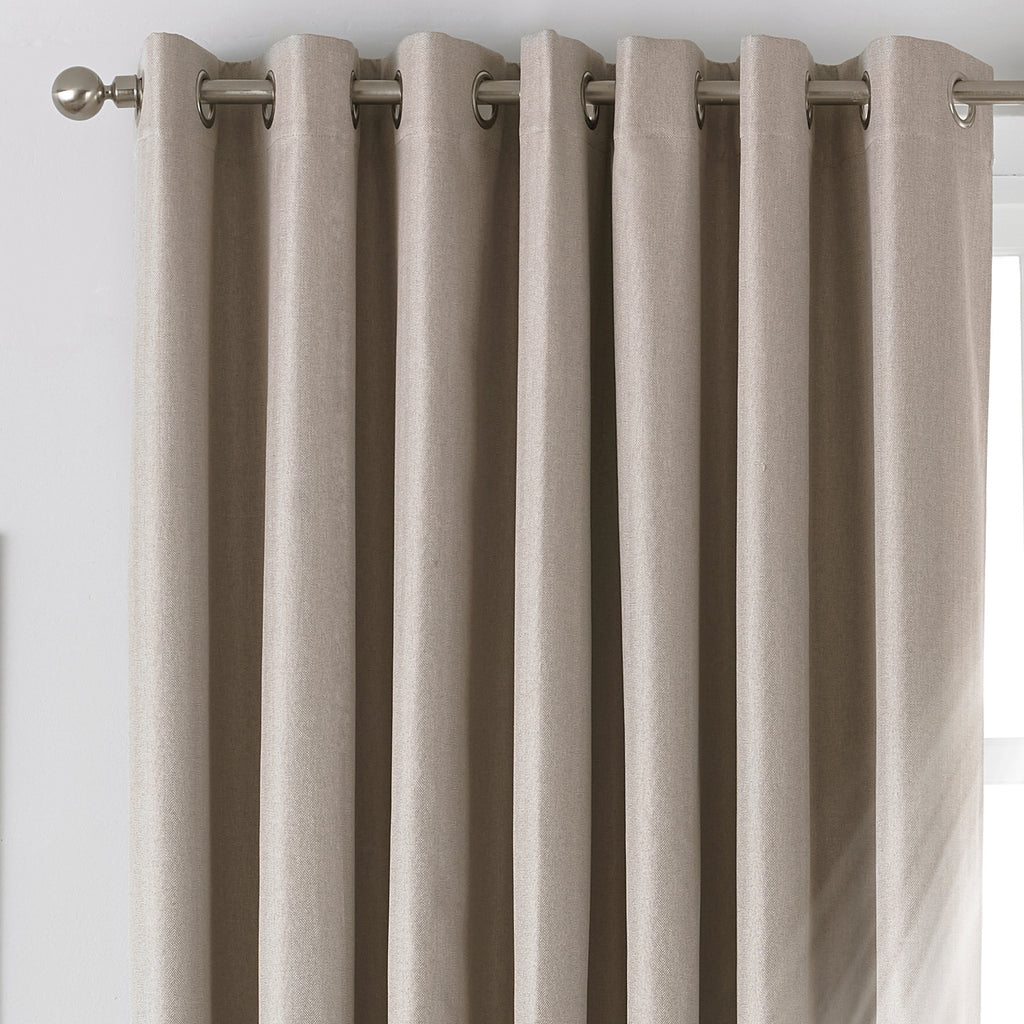 Moon Eyelet Blackout Curtains in Natural