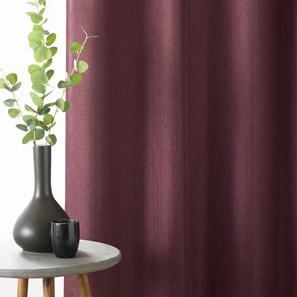 Moon Eyelet Blackout Curtains in Berry