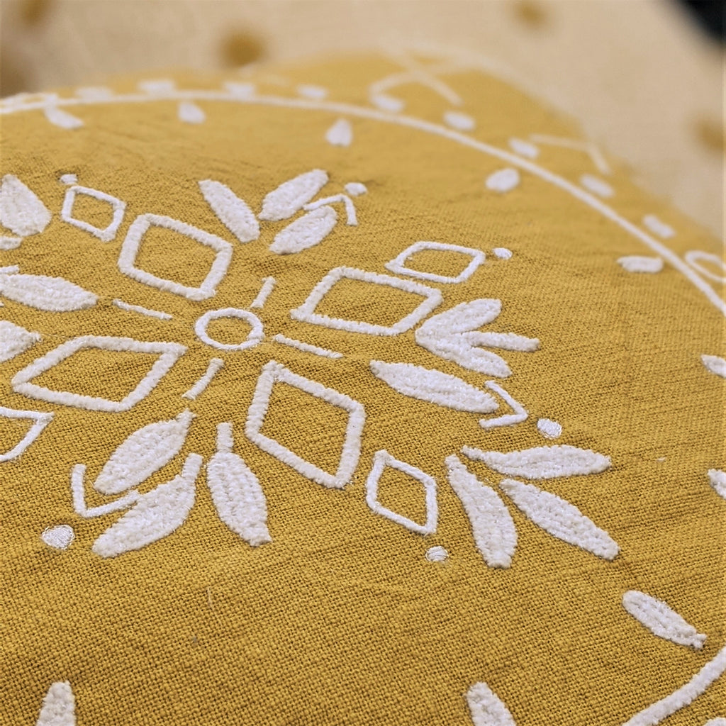 Mandala Cushion in Ochre