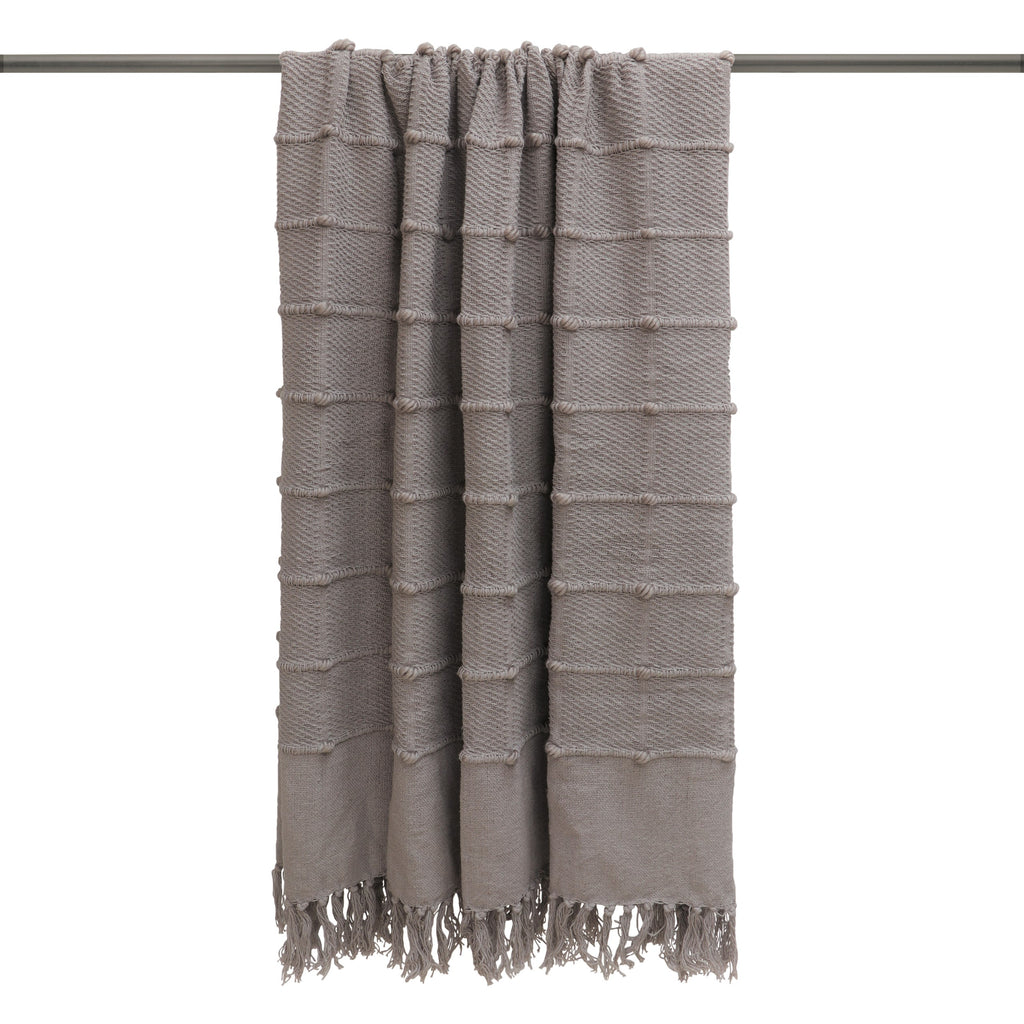Motti throw in Grey