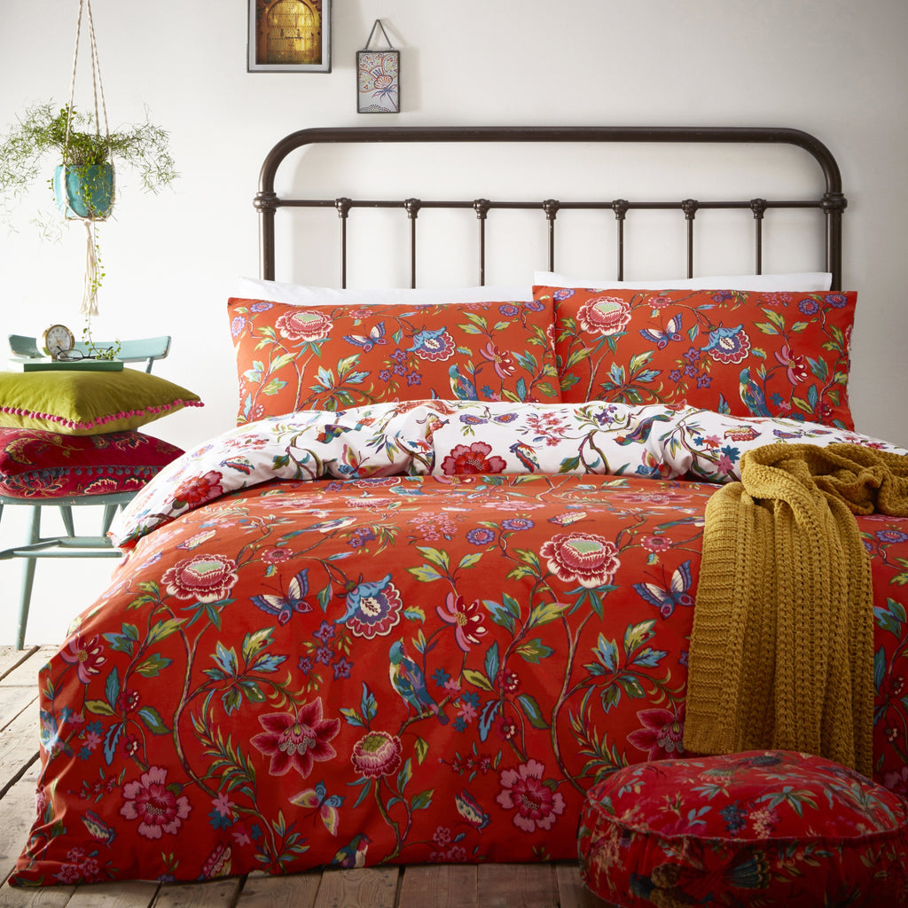 Pomelo Duvet Cover Set in Orange