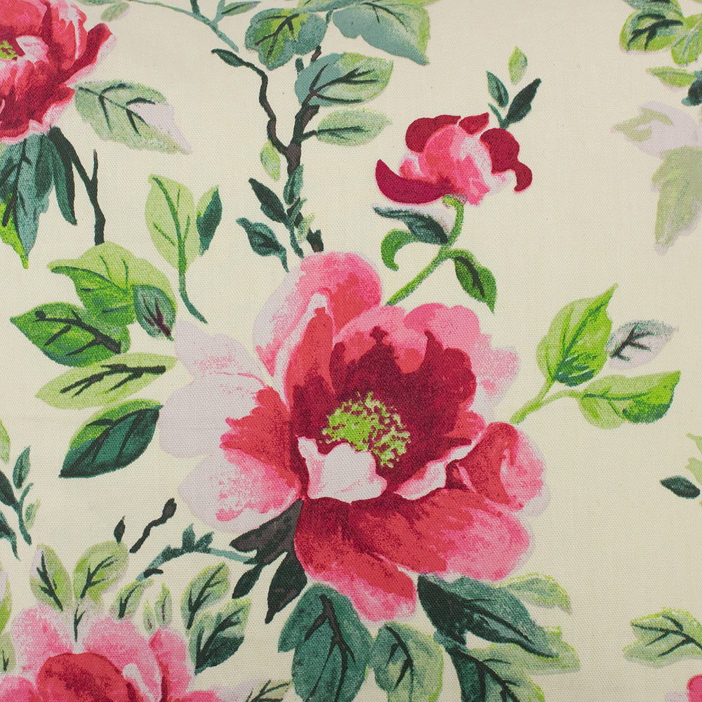 Peony Pencil Pleat Curtains in Fuchsia
