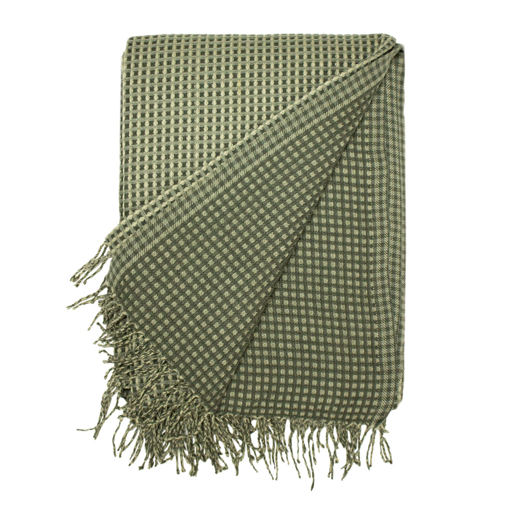 Rowan Waffle Throw in Charcoal
