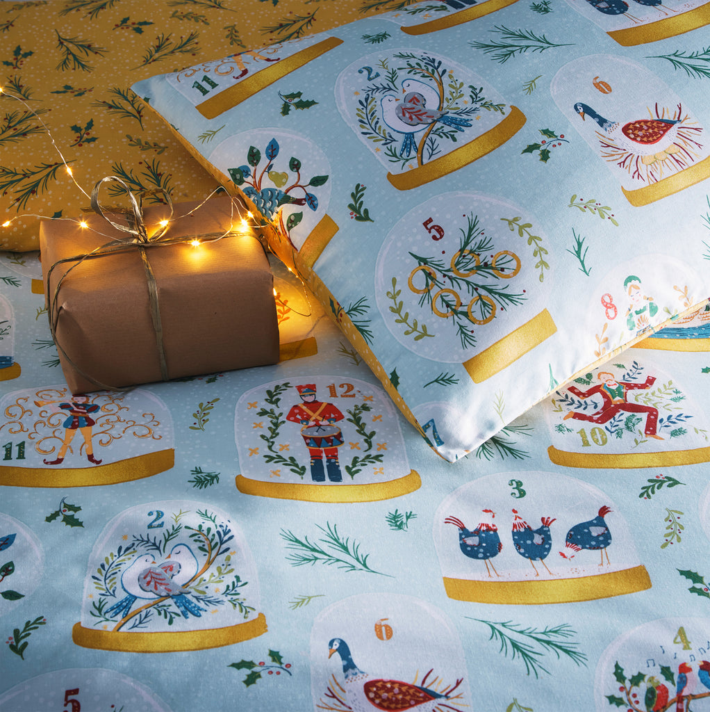 Twelve Days of Christmas Duvet Cover Set