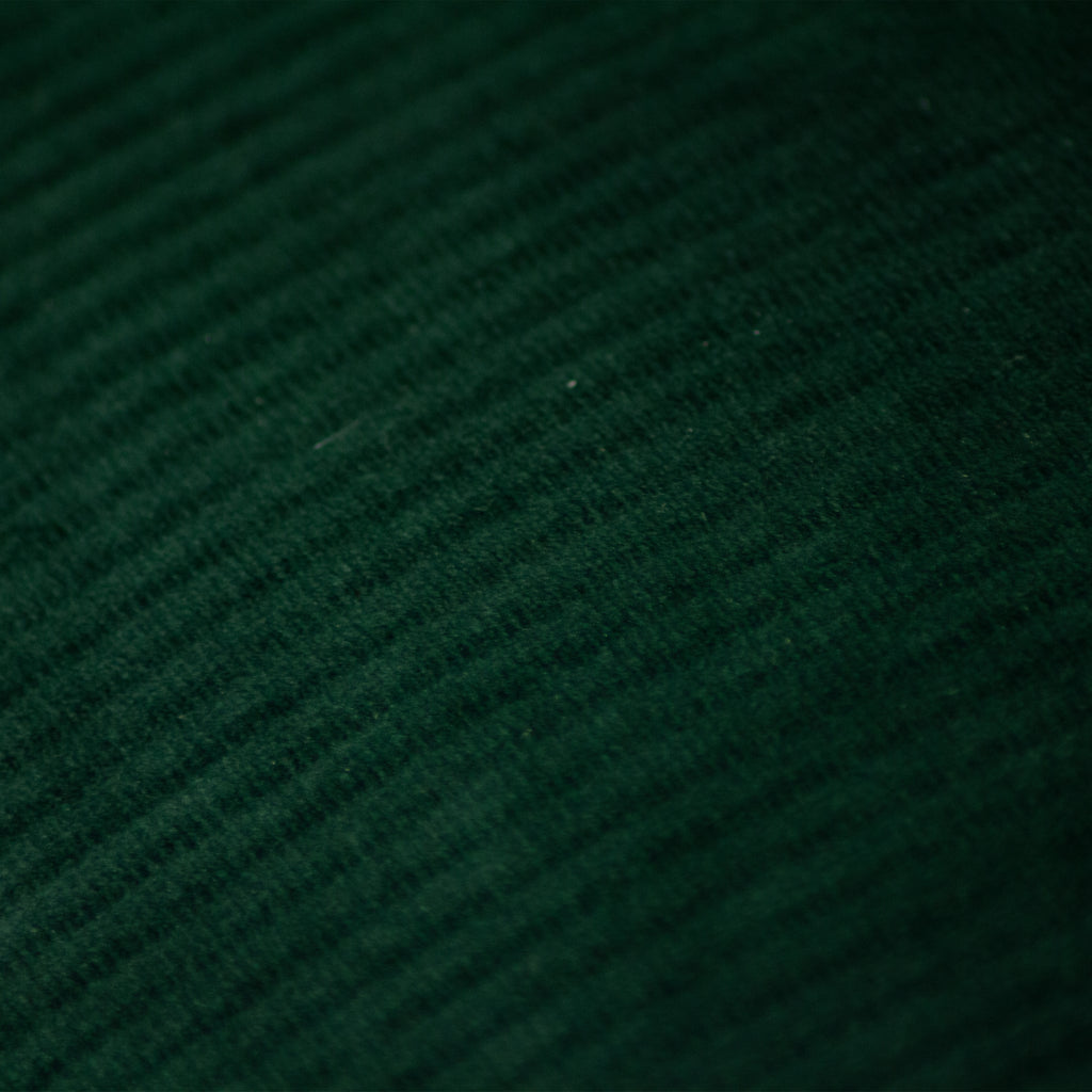 emerald ribbed velvet cushion from furn.