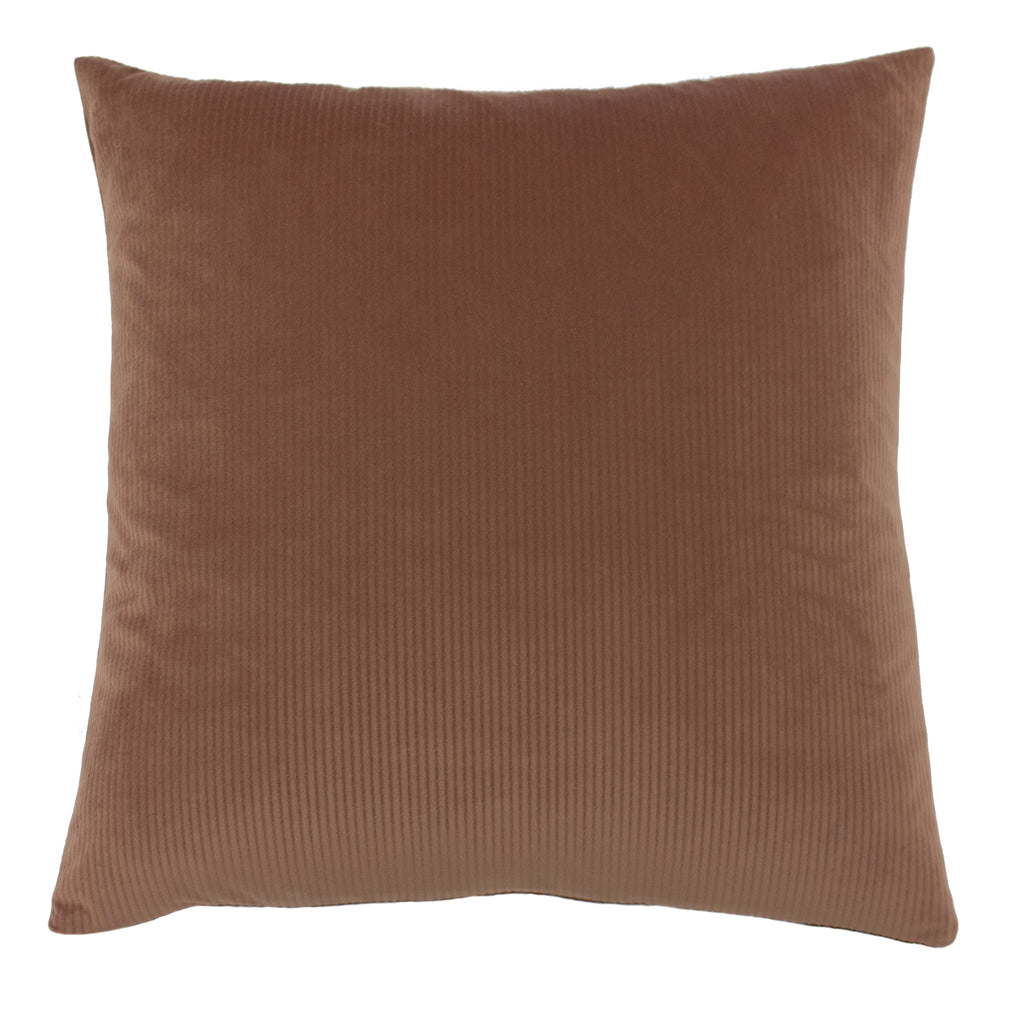 Rock Rose velvet cushion from furn. dark blush