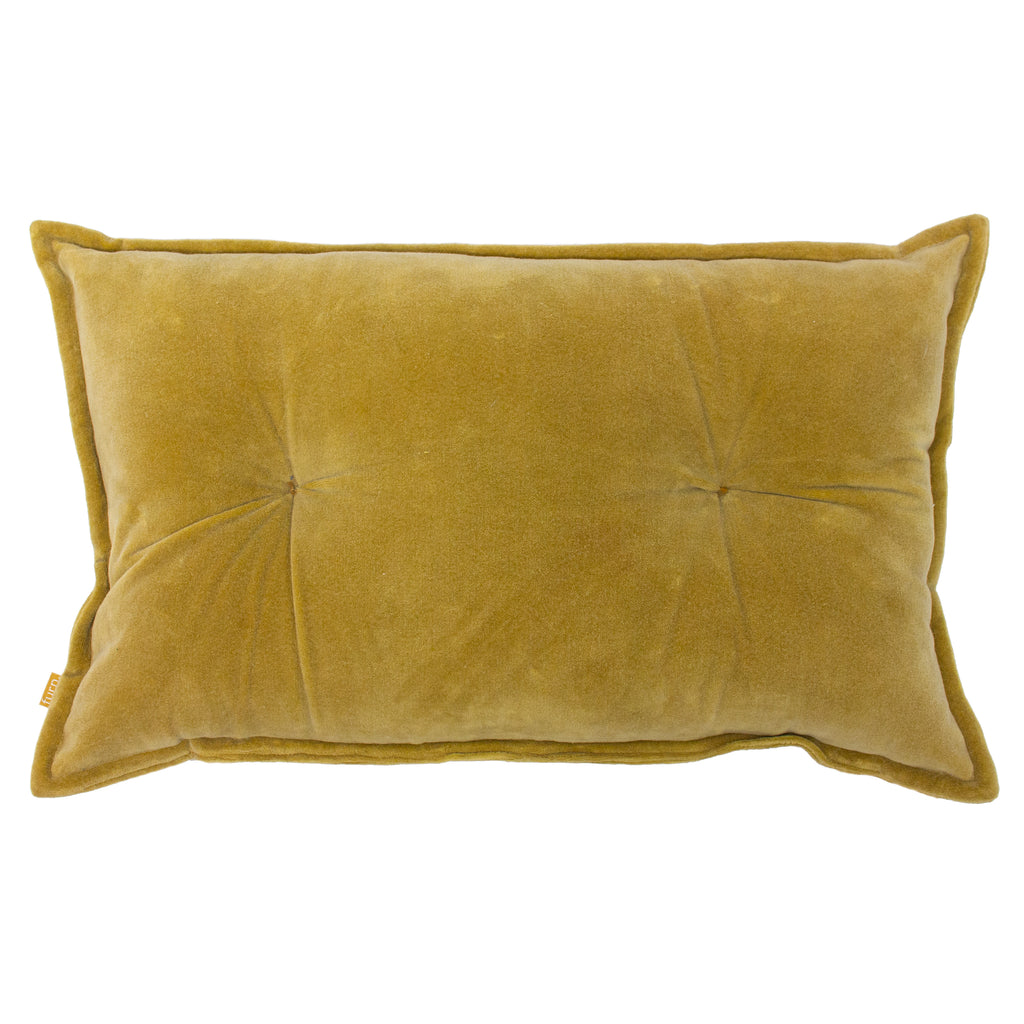 Bobble Velvet Cushion in Ochre