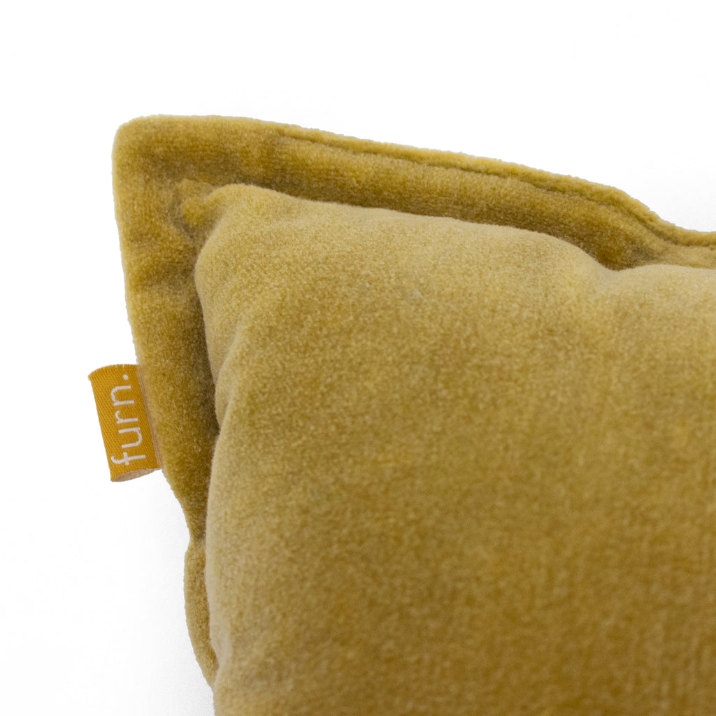 Bobble Cushion in Ochre