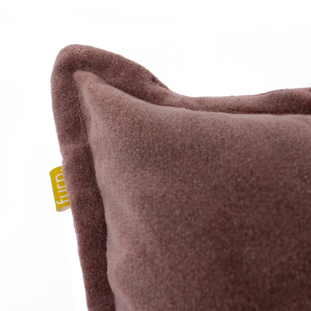Bobble Velvet Cushion in Rock Rose