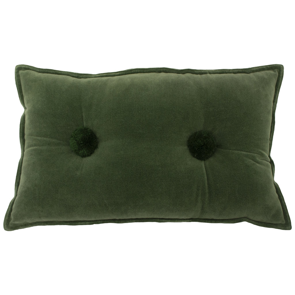Bobble Velvet Cushion in Sage