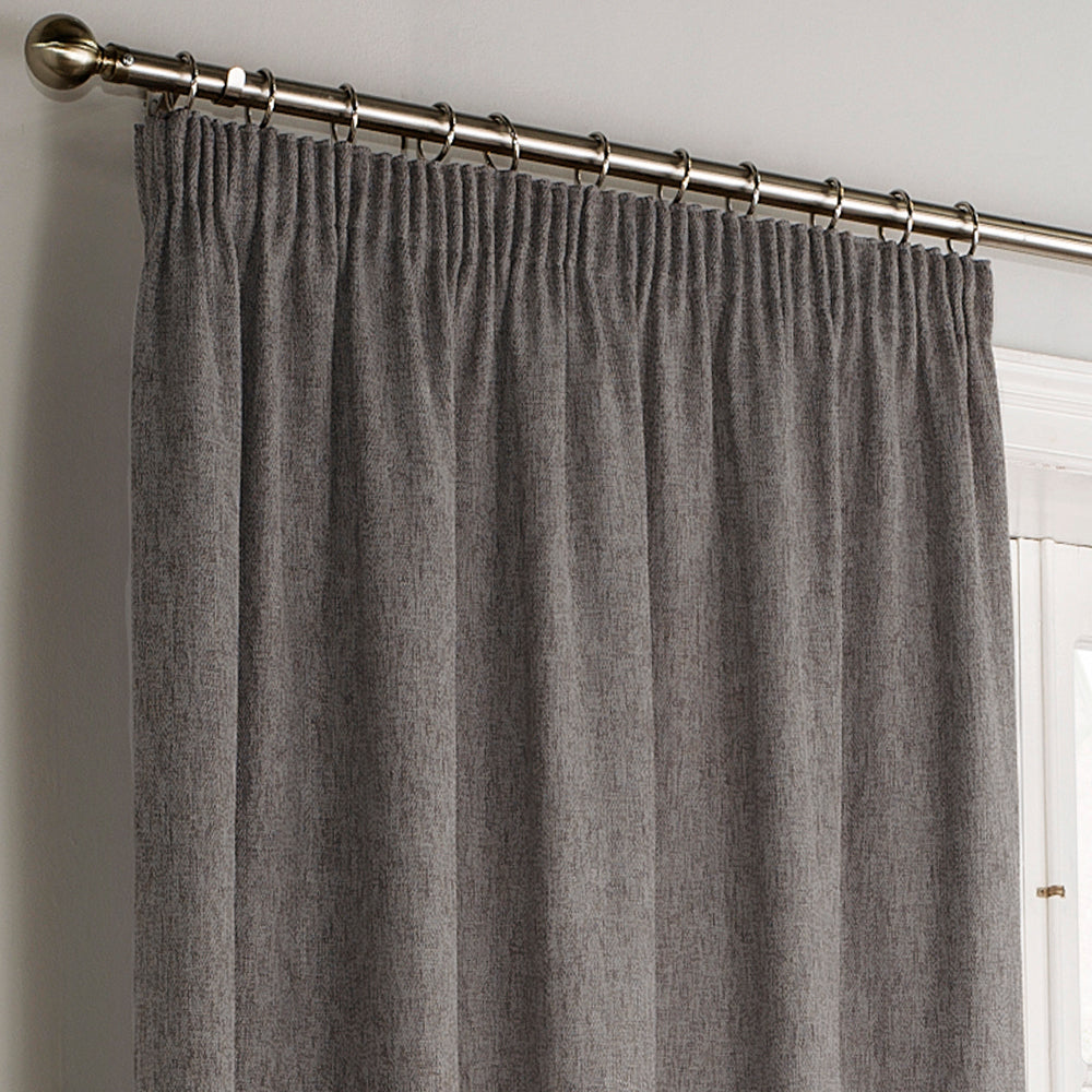 Harrison Pencil Pleat Curtains in Grey