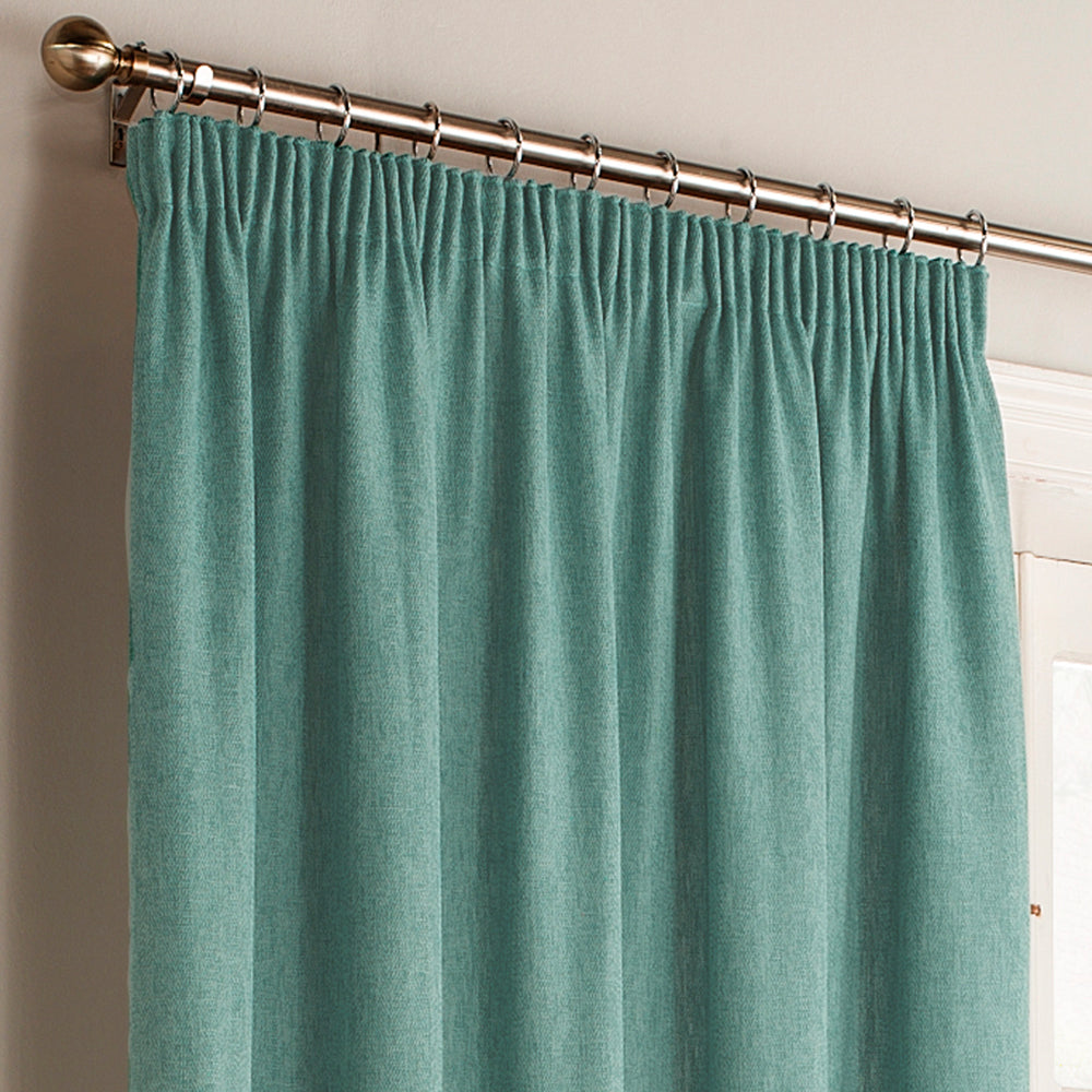 Harrison Pencil Pleat Curtains in Marine Blue
