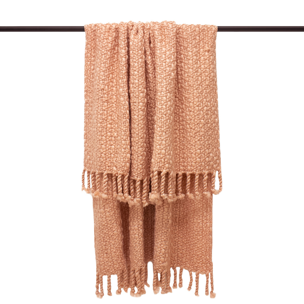Jocelyn Throw in Blush Pink