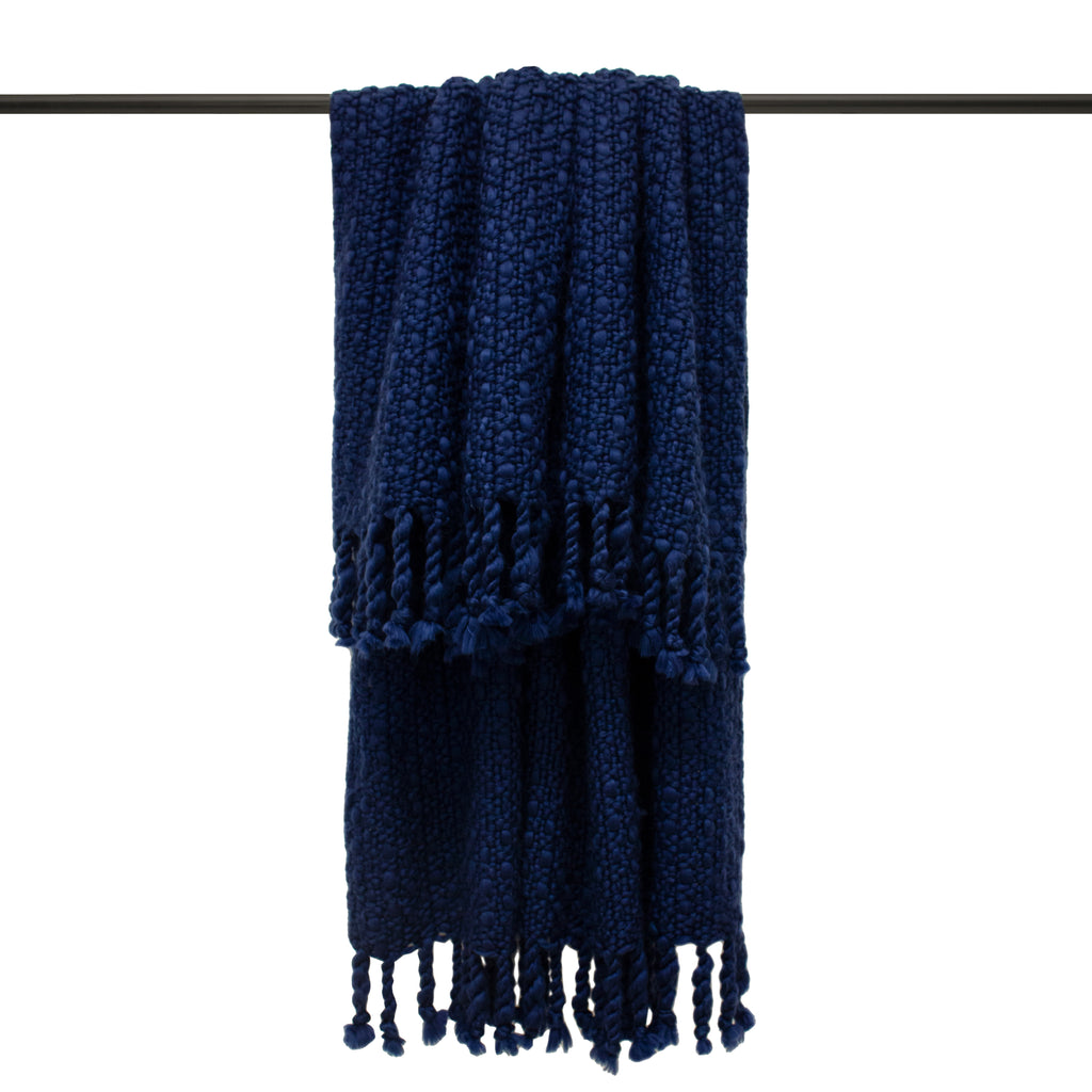 Jocelyn Throw in Navy
