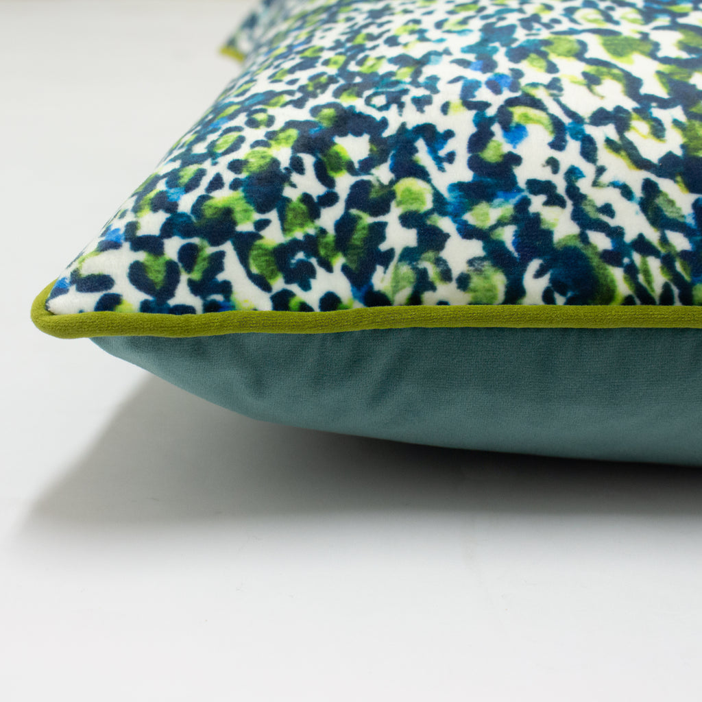 Mika Cushion in Green/Teal