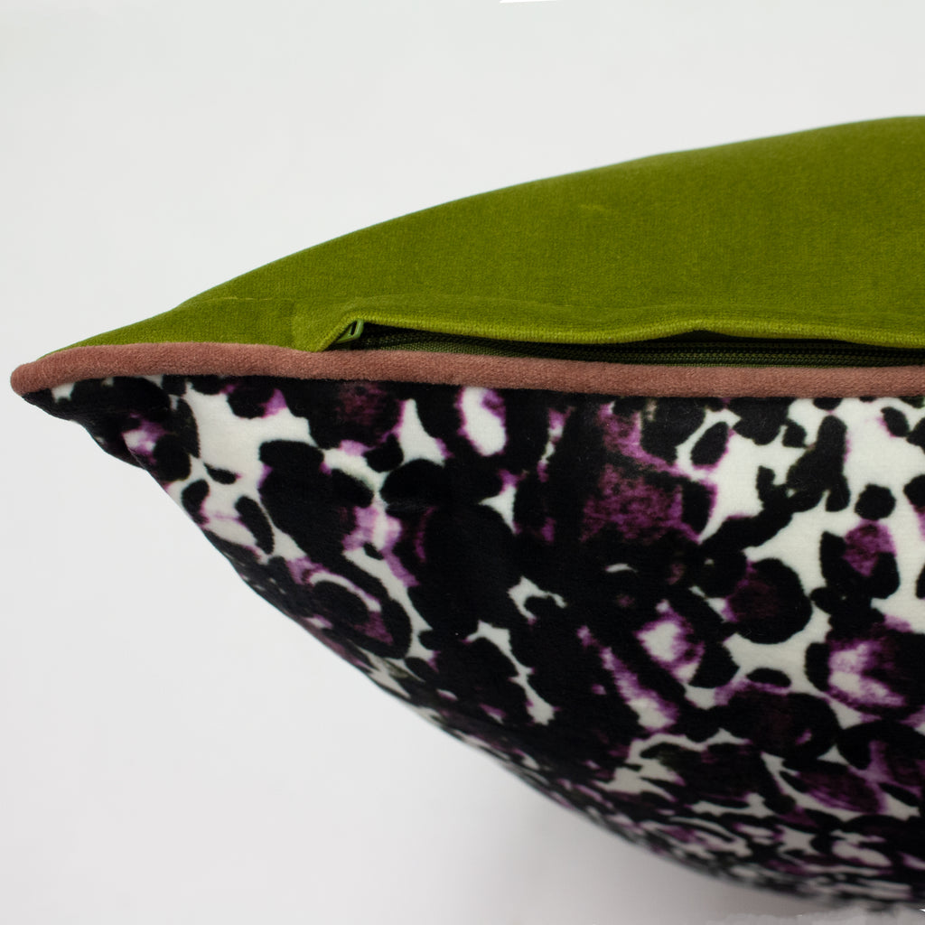 Mika Cushion in Rose Pink/Green