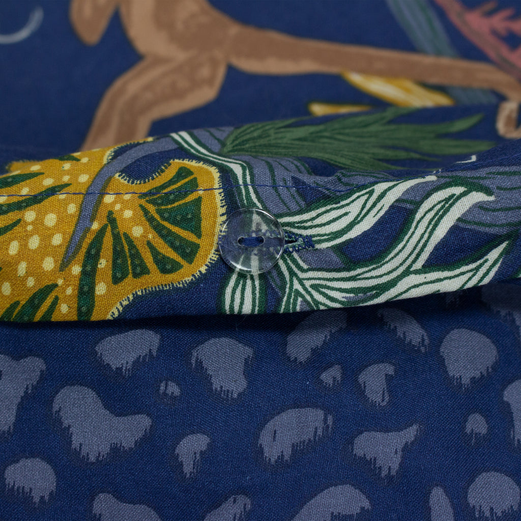 Monkey Forest Duvet Set in Midnight Blue