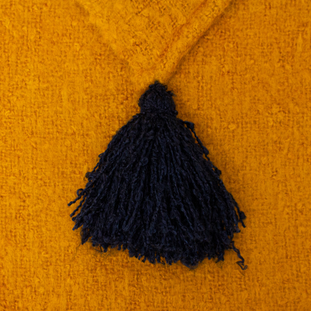 Romilly Throw in Gold/Navy