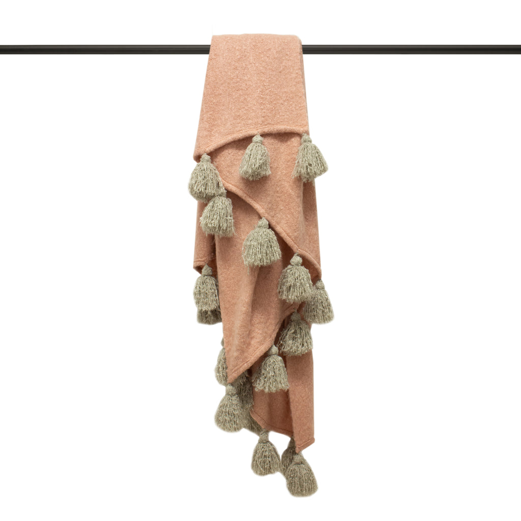 Romilly Throw in Blush/Natural