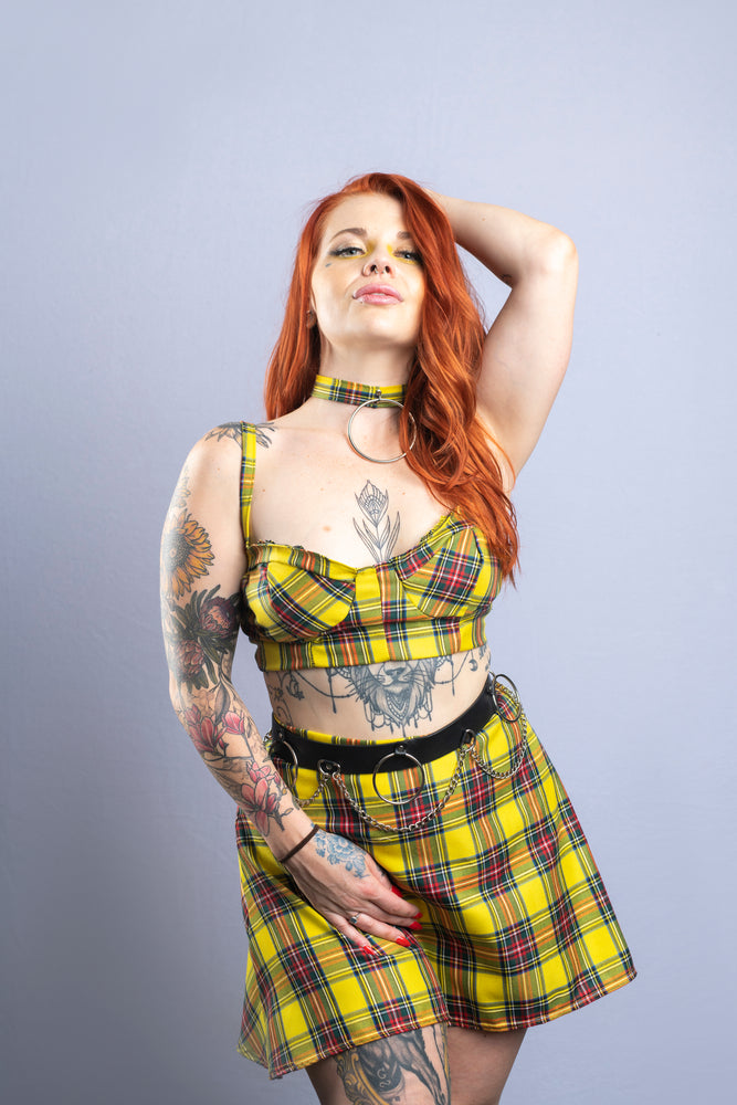 Tartan Skater Skirt [Yellow]