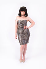 What's Good? Bodycon Dress [FAUX LEOPARD LEATHER]