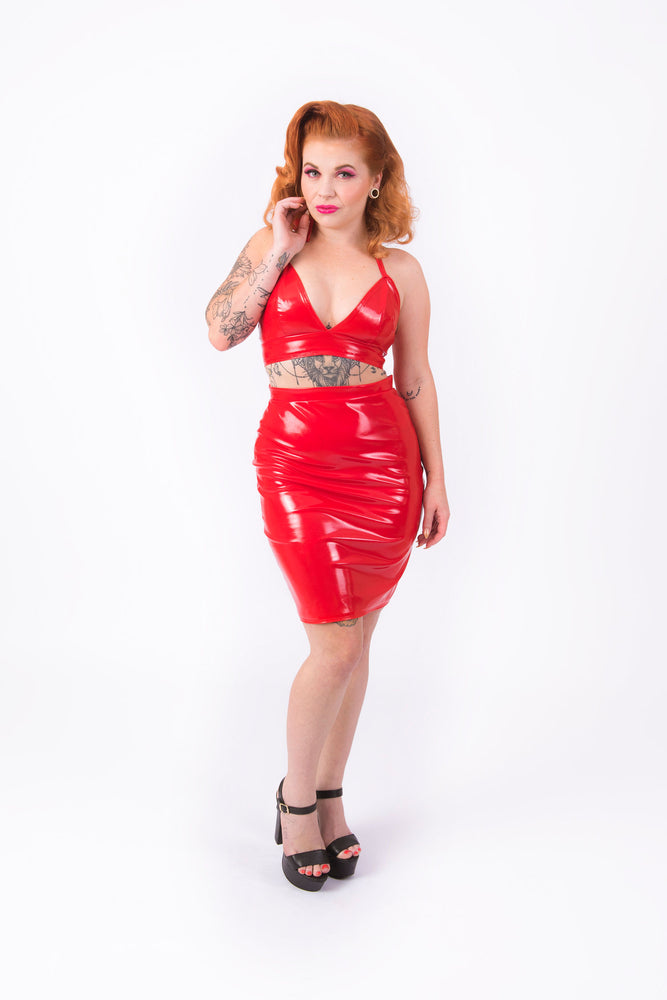 What's Good? Bodycon Skirt [RED]
