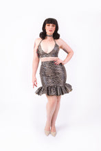 Load image into Gallery viewer, Kat Skirt [FAUX LEOPARD LEATHER]