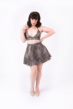 Load image into Gallery viewer, Nicki Skirt [FAUX LEOPARD LEATHER]