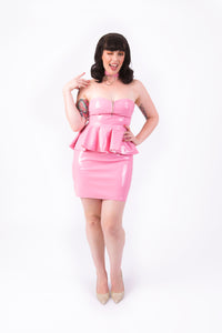 Onika Peplum Dress [NUDE PINK]