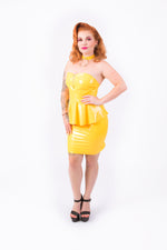 (PRE ORDER) Onika Peplum Dress [YELLOW]