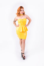 [PRE ORDER] Onika Peplum Dress [YELLOW]