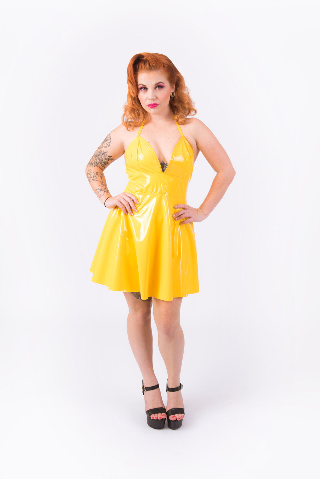 (LIMITED STOCK) Nicki Halter Dress [YELLOW]