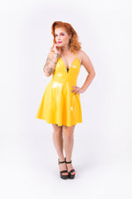(PRE ORDER) Nicki Halter Dress [YELLOW]