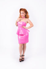 (LIMITED STOCK) Onika Peplum Dress [PINK]