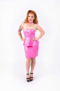 Onika Peplum Dress [PINK]