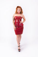 Load image into Gallery viewer, Onika Peplum Dress [BURGUNDY]