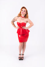 Load image into Gallery viewer, Onika Peplum Dress [RED]