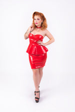 Onika Peplum Dress [RED]