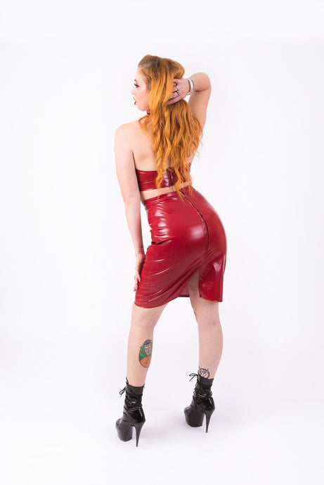 (LOW IN STOCK) What's Good? Bodycon Skirt [BURGUNDY]
