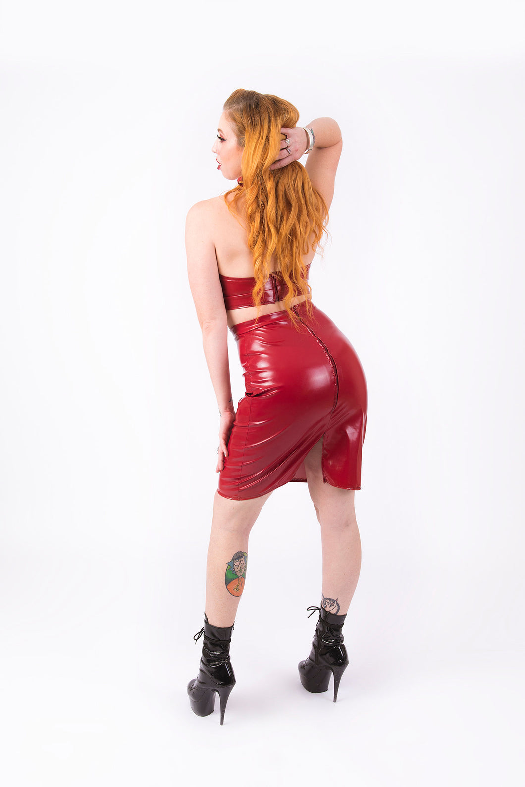 What's Good? Bodycon Skirt [BURGUNDY]