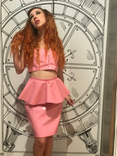 Load image into Gallery viewer, Onika Peplum Skirt [NUDE PINK]